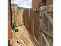 Fencing services, decking, gate