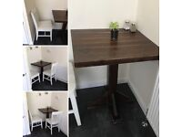 Oak Cafe Table + 2 Chairs