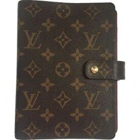 GENUINE LOUIS VUITTON AGENDA WITH INSERTS AND ALL RECEIPTS FROM HARRODS