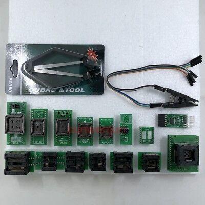 Spi Driver Qfp32 Sop8 Sop16 Sop20 Ssop8 Plcc Adapter For Tl866ii Programmer
