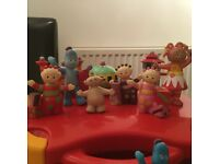 In the night garden figures including The Ninky Nonk train