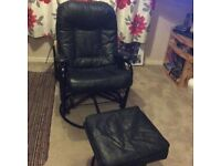 Rocking/swivel chair & footstool