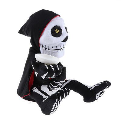 Halloween squelette fantôme décor électrique musique danse tirelire