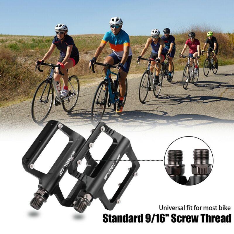 Mountain Road Bike Pedals MTB Wide Aluminum Flat Platform Sealed Bearings 9//16/'/'