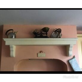 Country Kitchen with oven mantle