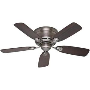 NEW Hunter 51060 Low Profile IV 42-Inch Ceiling Fan, Antique Pewter