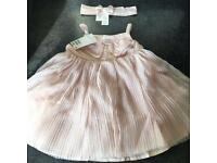 Girls Orange/Pink H&M Dress And Headband New With Tags Various Sizes