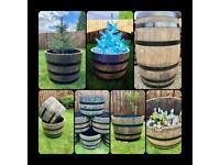 Freshly Cut Oak Half Whisky Barrels - Delivery Available 🚚