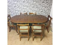Vintage Extendable Dining Table and 6 Chairs