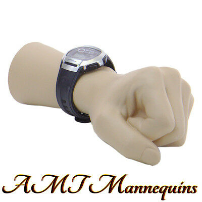 1 Male Female Mannequin Hand Life Size S Display Watch Left Hand -mans- Fist