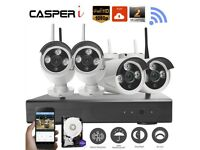 4CH 2MP Wireless 1080P NVR CCTV WIFI IP Camera Home Security NVR Recorder System