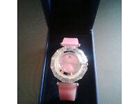 Original Swarovski watch comes in a box.