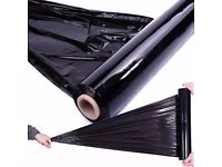 Extra Strong Black Pallet Wrap Stretch Shrink Film 23 micron New 500 mm x 250m 2kg netto roll