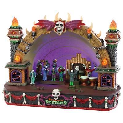 Lemax Spooky Town Halloween Animated SYMPHONY OF SCREAMS Skulls Skeletons Flames (Halloween Symphony)