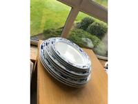 Hardly used 9 piece china plates
