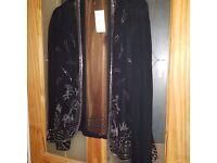 Principles black chiffon evening jacket. Size 10