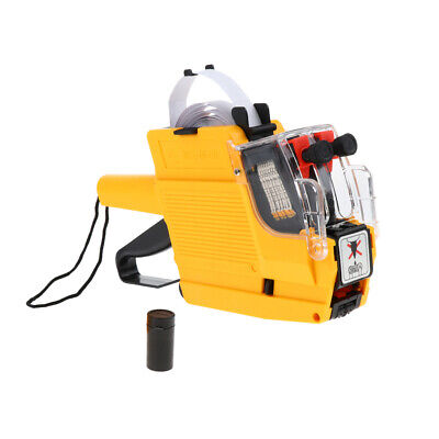 Mx-6600 10 Digits 2 Lines Price Tag Gun Labeler 6 Kinds Of Currency Yellow