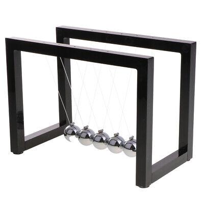 Perpetual Motion Newtons Cradle Balance Ball Pendulum Home Dcor Black