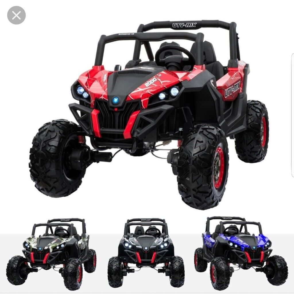 Kid Electric UTV-Beach Buggy Quad 24V Ride On Car 4WD EVA Tyre Leather 2  Seater | in Manchester City Centre, Manchester | Gumtree