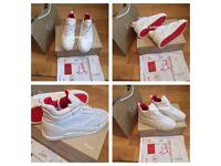 Christian Louboutin White Aurelien Mens Women's Boys Girls Trainers Footwear Loubs Various Size