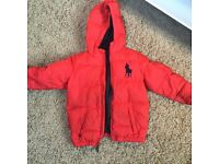 Red Ralph Lauren coat age 5-6