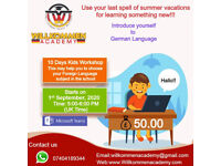 Online 10 Days Workshop for Kids (6-15 years): Introduction to German Language