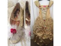 Disney princess Bell dress with matching shoes