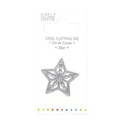 Trimcraft Simply Creative Mini Metal Paper Card Craft Die Set - Star