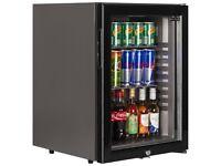 TEFCOLD TM52G BLACK GLASS DOOR MINI BAR DRINKS FRIDGE GRADED CHEAP