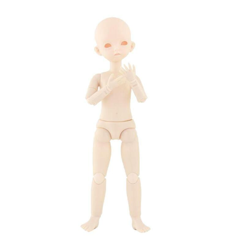 1/6 BJD Unpainted Female Plastic Nude Figure Doll Body DIY Makeup White Skin