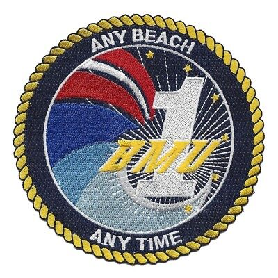 United States Navy BEACHMASTER UNIT ONE Military Patch ANY BEACH ANYTIME BMU 1