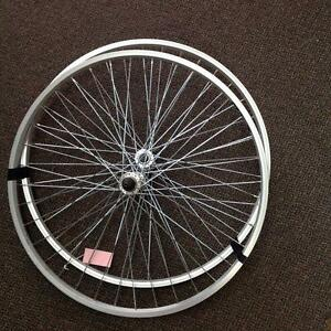 Bike Wheels/ Rims- Pair 700C Silver (SKU: SEF6YN)
