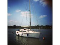 Leisure 22 sailing boat, yacht, 4 berth, outboard. Ready to sail away