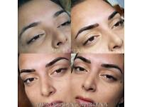 Microblading Eyebrows, Ombre Eyebrows, Eyeliner, Eyeliner with shadows