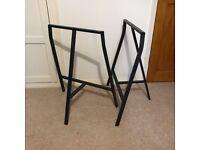 Pair of LERBERG Ikea Trestle Table/ Desk Legs - Grey