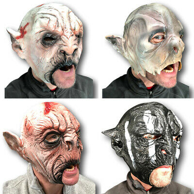 Orc Halloween Masks (BEASTIAL ORC BEAST MASKS FULL HEAD HALLOWEEN RINGS LARP FANCY DRESS)