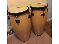 Pair of excellent condition CP Conga Drums - Sizes Uno & Quinto (1 & 5)