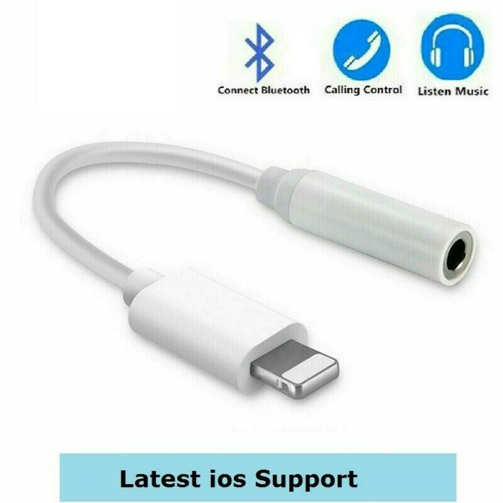 3.5mm Earphone Jack Audio AUX Adapter Cable For iPhone 7 8 X