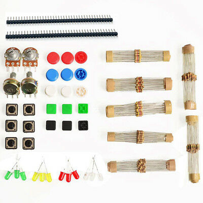 Electronic Starter Kit Switches, LEDs, Resistors, Potentiometers for Arduino US