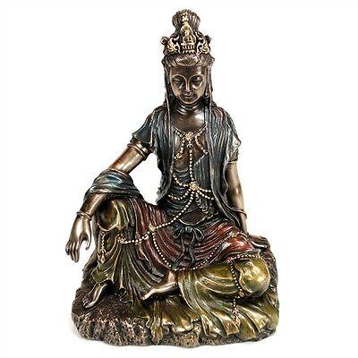 "KWAN YIN STATUE 5"" Buddhist Goddess HIGH QUALITY Bronze Resin NEW Quan Guan Kuan"