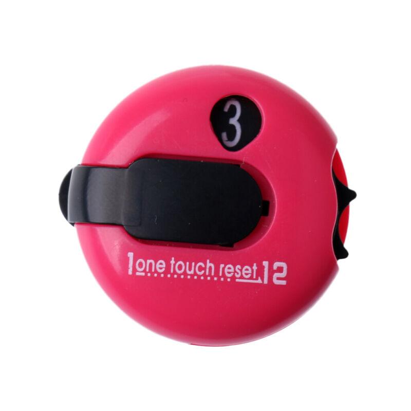 Mini Golf Score Counter Scorekeeper Scoring Tool Clip On Glove, Dark Pink