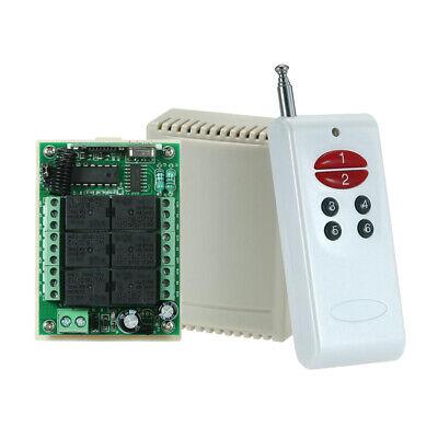 433mhz Dc12v 6 Ch Channel Wireless Rf 6 Relay Remote Control Switch Receiver