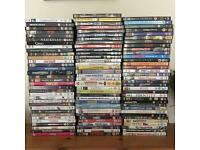 100 movies/ DVD's for sale