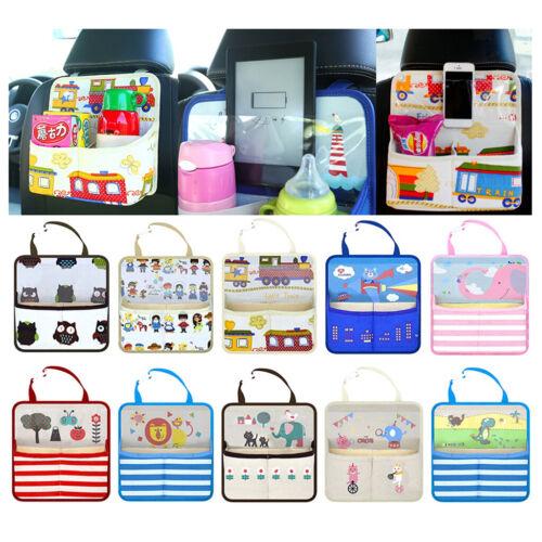 Car Back Seat Organiser Tidy Storage Bag Kids Baby Stroller