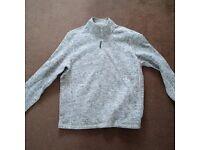 TU Mens Shirt Top Zip Sweatshirt Grey Luxury Premium XL New