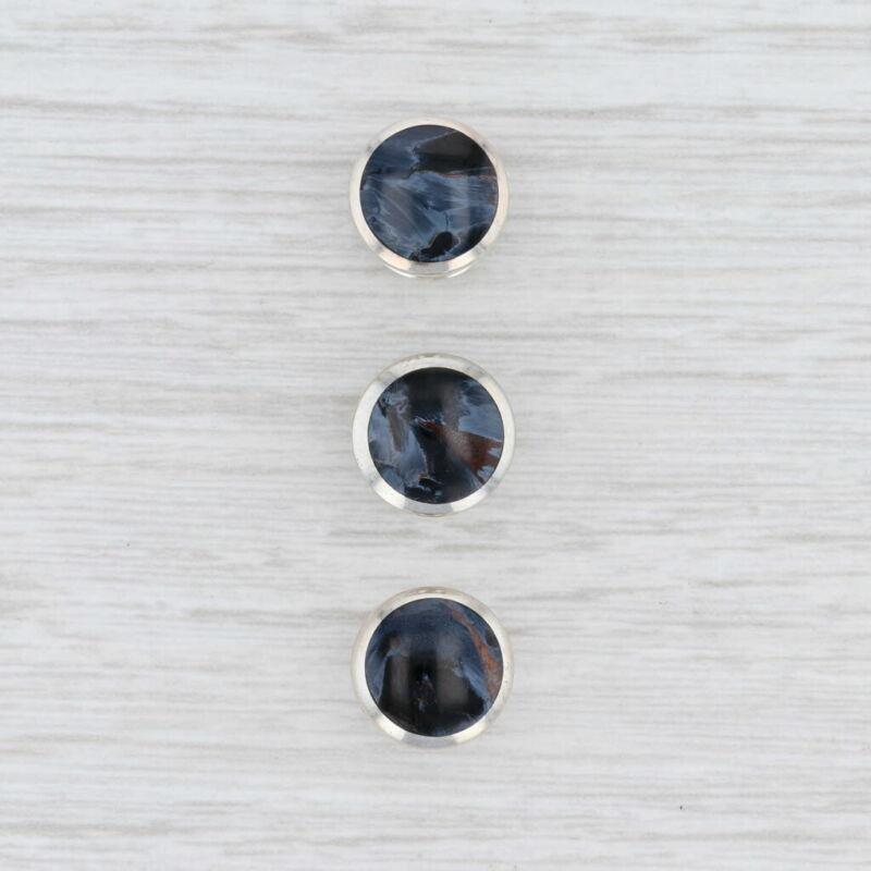 David Yurman Petersite Streamline Tuxedo Stud Set Sterling Silver Men