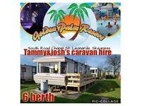 Caravans for rent