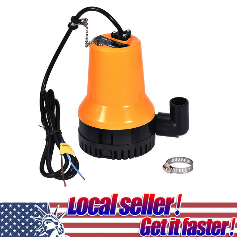 Submersible Water Pump Clean Clear Dirty Pool Pond Flood 1620GPH 6000L//H 12V New