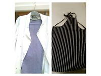 3 Sets New chef whites x3 For good home. (trous,jack,apron x3)