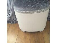 Lloyd loom linen bin